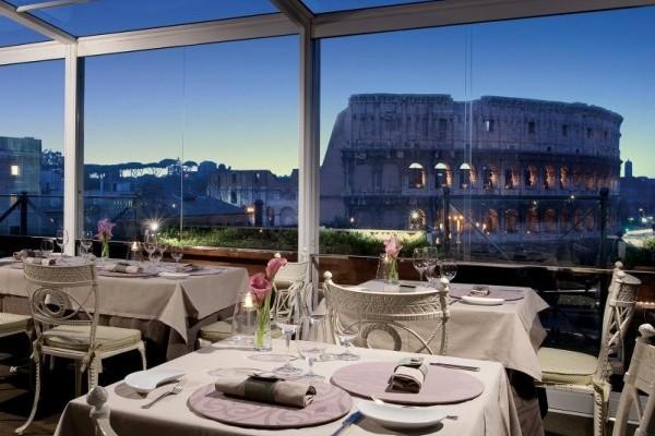 Colosseum panoramic view restaurant