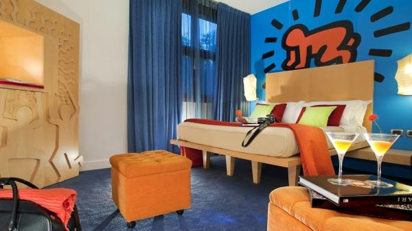 Hôtel Art - Chambre bleue