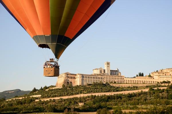 Montgolfière à Rome