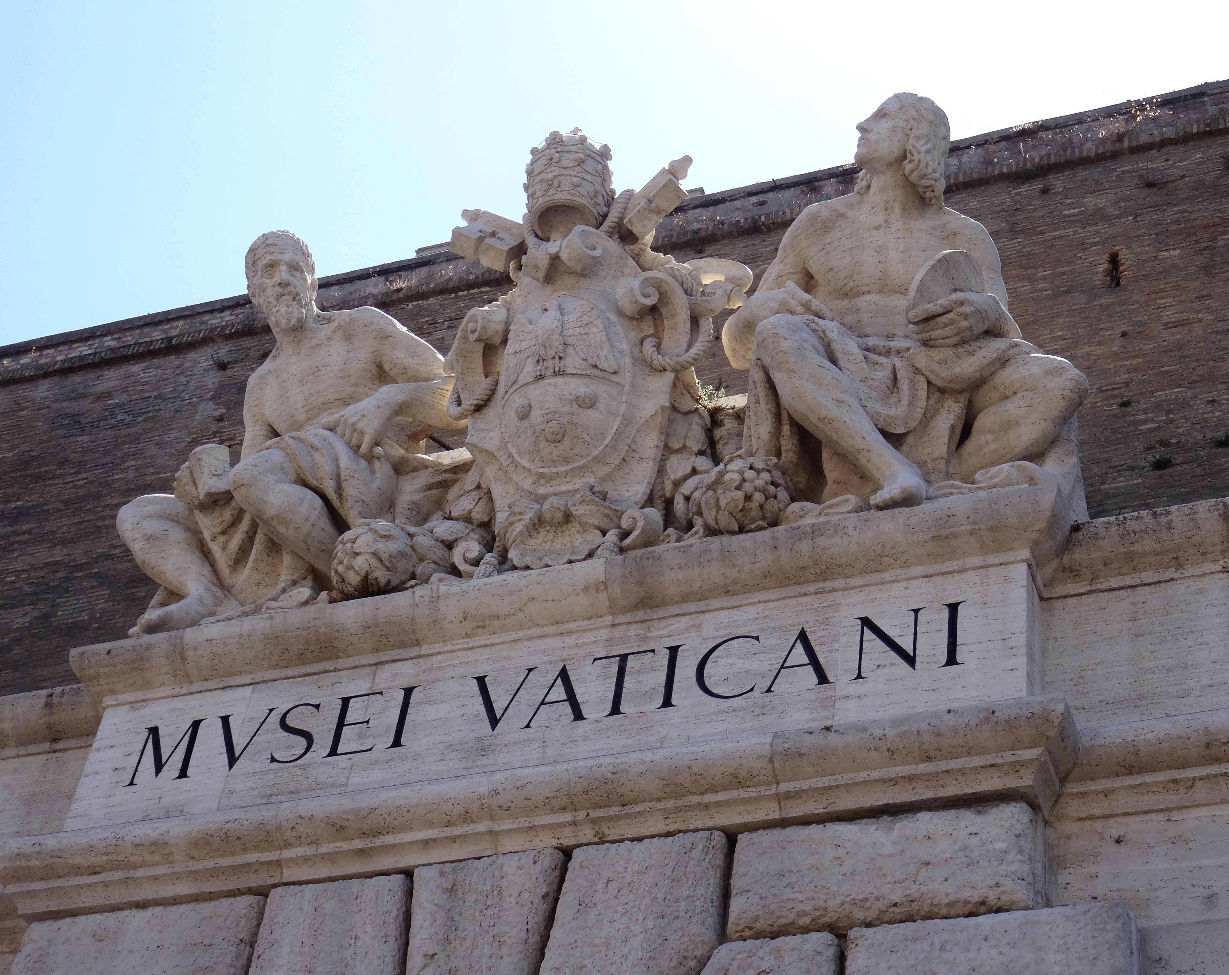 Musées du Vatican fronton enseigne