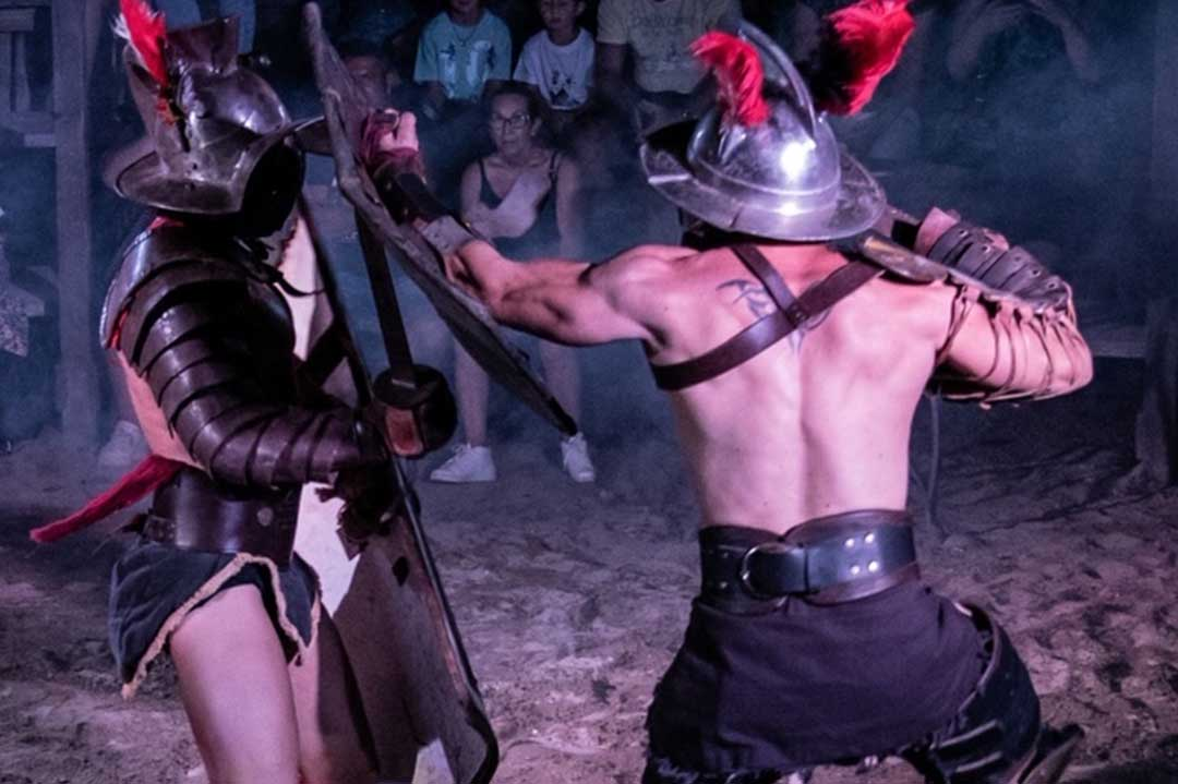 parc d'attractions Roma World spectacle gladiator_BeyondRoma