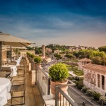 Rooftop dinner rome group _beyondRoma