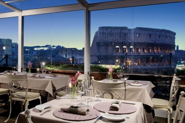 Colosseum panoramic view restaurant